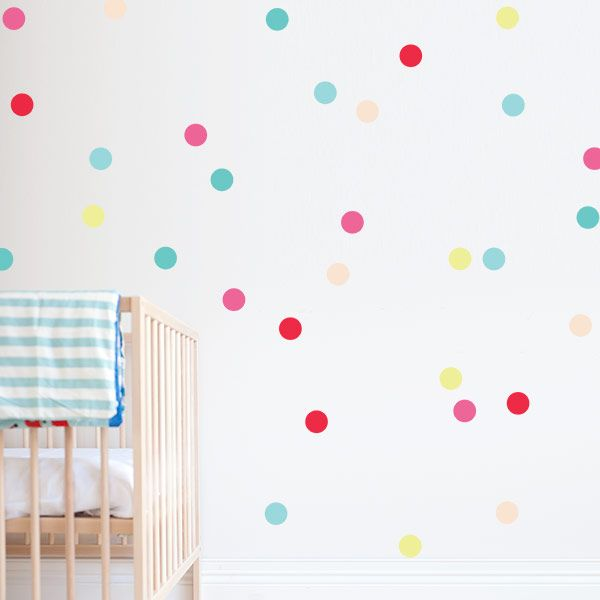 confetti wall decals & stickers | removable nursery decor | baby