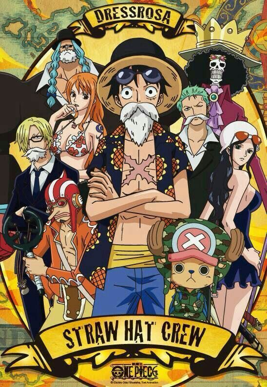 Straw Hat Crew, Mugiwara, Luffy, Sanji, Zoro, Chopper ...