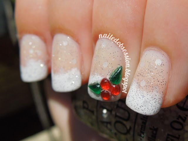Let It Snow!   Design by @Strawbrie (on Instagram).  Tutorial on my blog: nailedobsession.blogspot