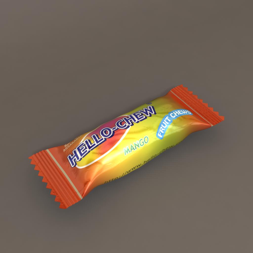 3D Candy Model   Candy models, Mango fruit, Candy