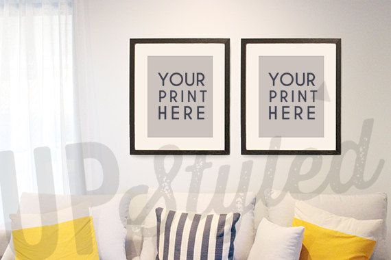 Styled Photograph Living Room Wall Art With 16x20 Frame Mock Up