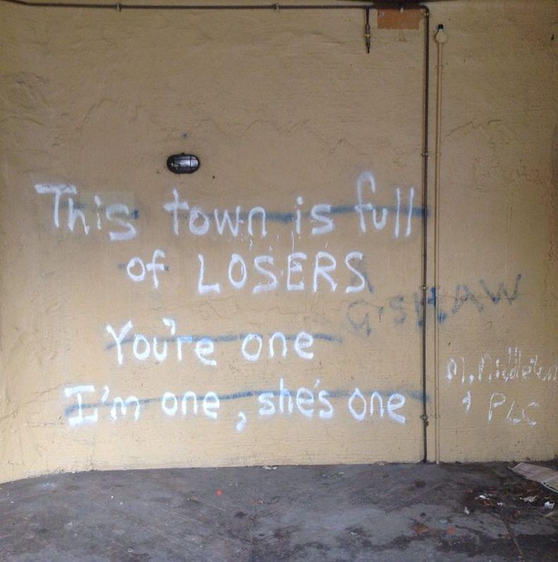 Graffiti Sad Quotes: All My Friends Are Heathens, Take Ir Slow