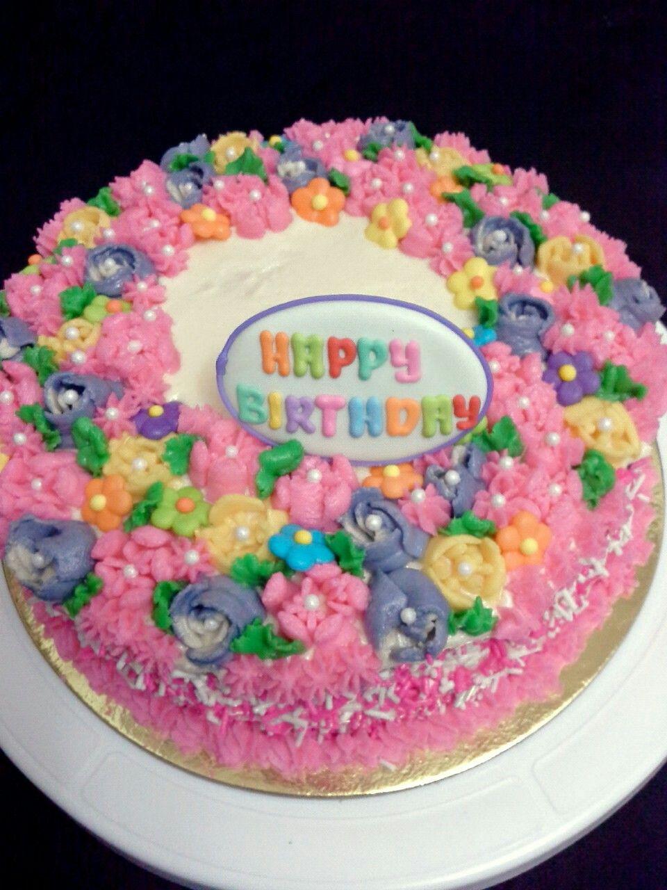Flower birthday cake JoyceofBaking joyce of baking Pinterest