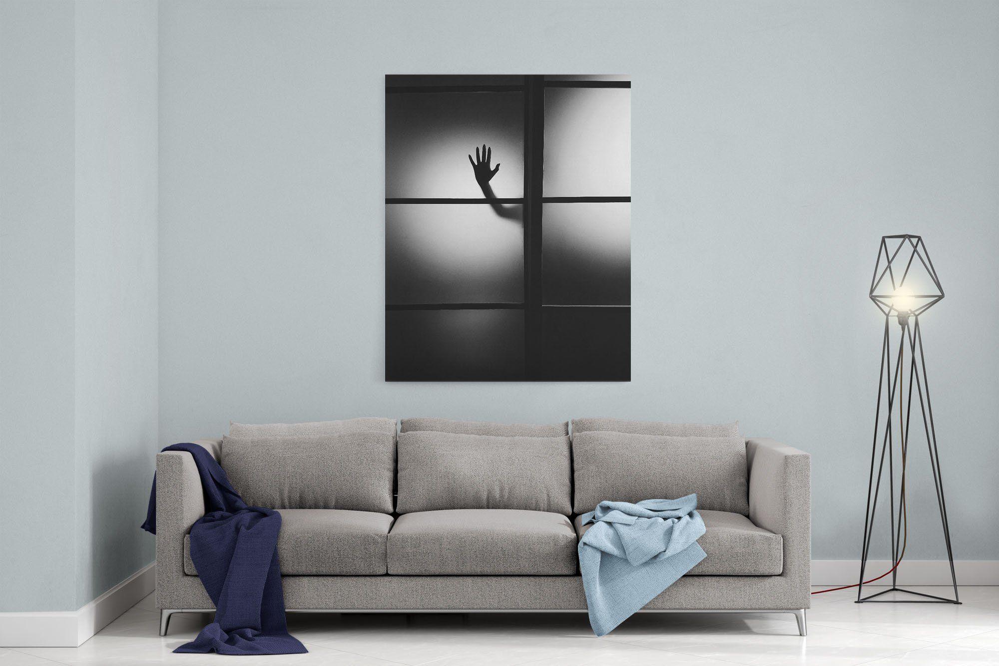 Westlake Canvas Print Wall Black Canvas Stretched Gallery Wrap Modern