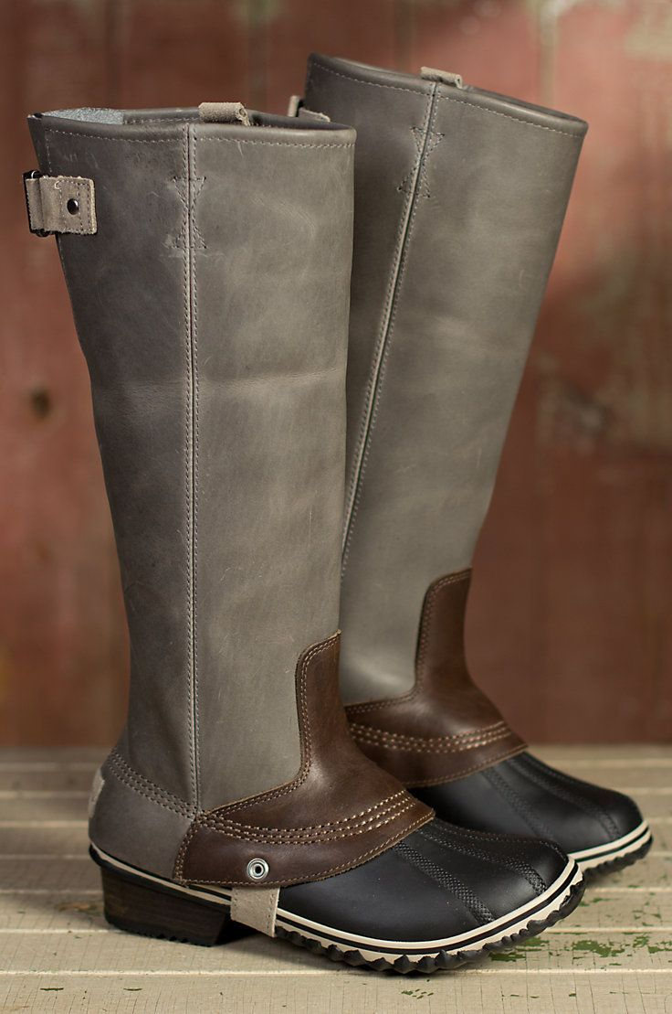 Women s Sorel Tall Slimpack Leather Riding Boots by Overland Sheepskin Co.  (style 50512) dfab299da