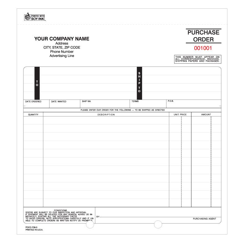 POCC-708, Snap-a-Part Purchase Orders (Carbonless) Purchase - are invoice and purchase order the same
