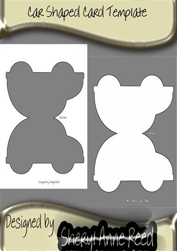 Car Shaped Card Template Transparent Shaped Cards Cards Handmade Card Making Templates