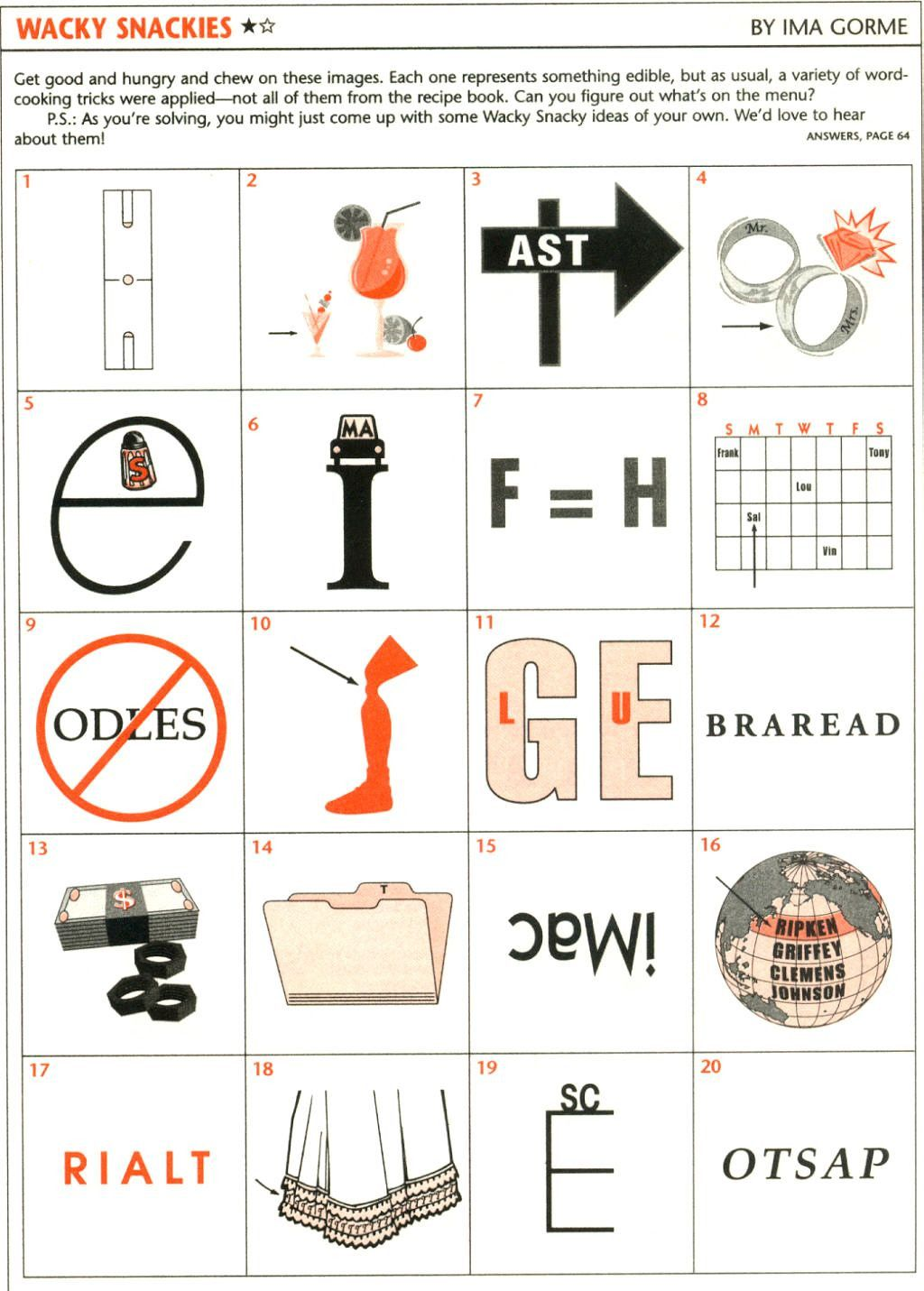 6 Rebus Puzzles Worksheet In