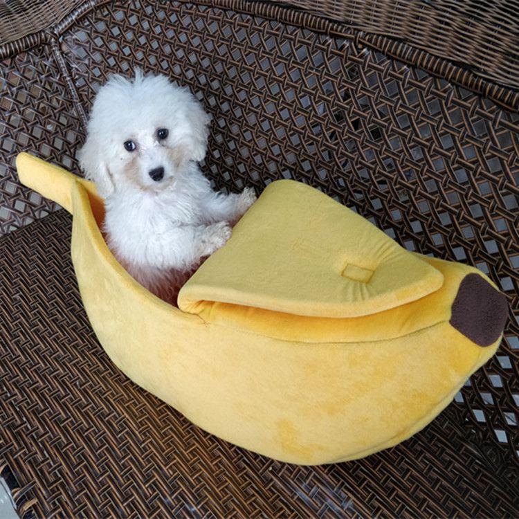 2017新しいクリエイティブペット犬ベッドバナナ形ペットベッドソファ用ペット猫子犬クッションマット家具暖かいペットハウスcamaペロ Dog Pet Beds Puppy Cushion Washable Dog Bed