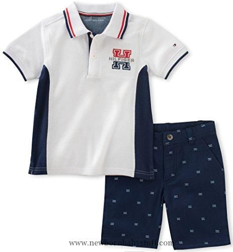 0ff8cf453 Baby Boy Clothes Tommy Hilfiger Baby Boys' 2 Pieces Polo Set-Printed Shorts,  White, 6/9M