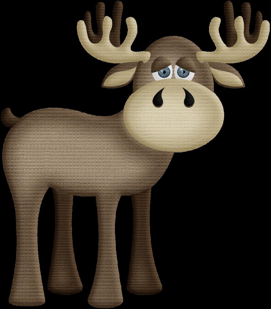 aw_woodland_moose 2.png Иллюстрации с животными, Лесные