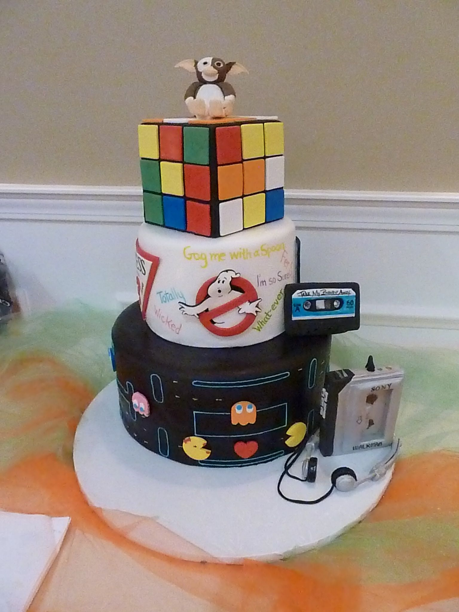 1980s Themed Wedding Cake Everything Is 100 Edible Including