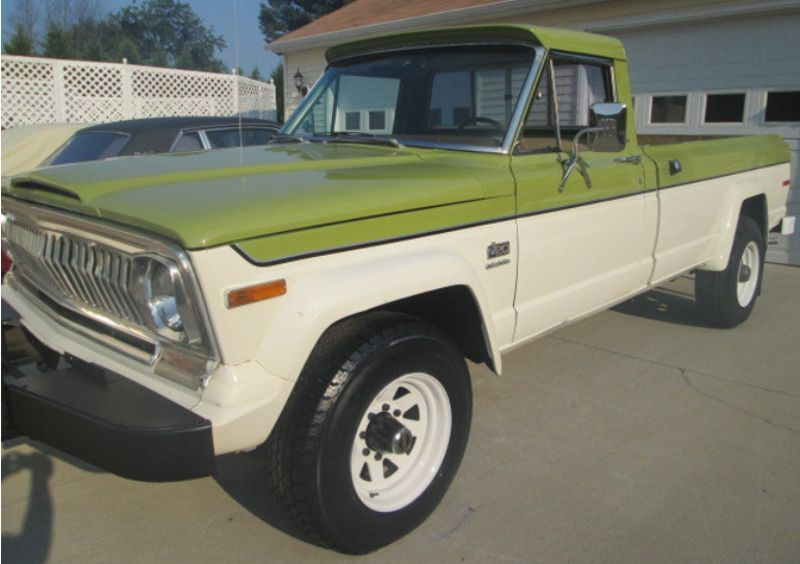 Example Of Apple Green Paint On A Ame 1975 Jeep J20 Pickup Jeep