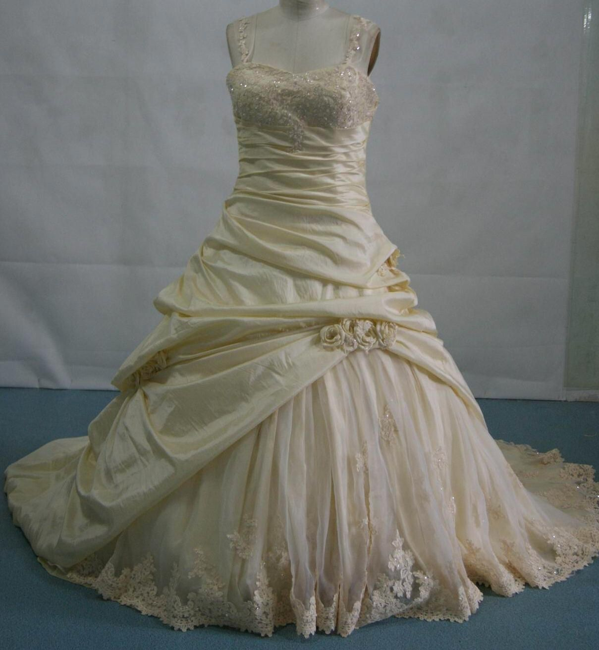 Mindy sabelle cascading bustles on wedding dress ballgown dresses