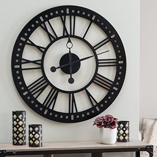Floating Dial Design Hawthorne Oversized Tower 38 Inch Wall Clock