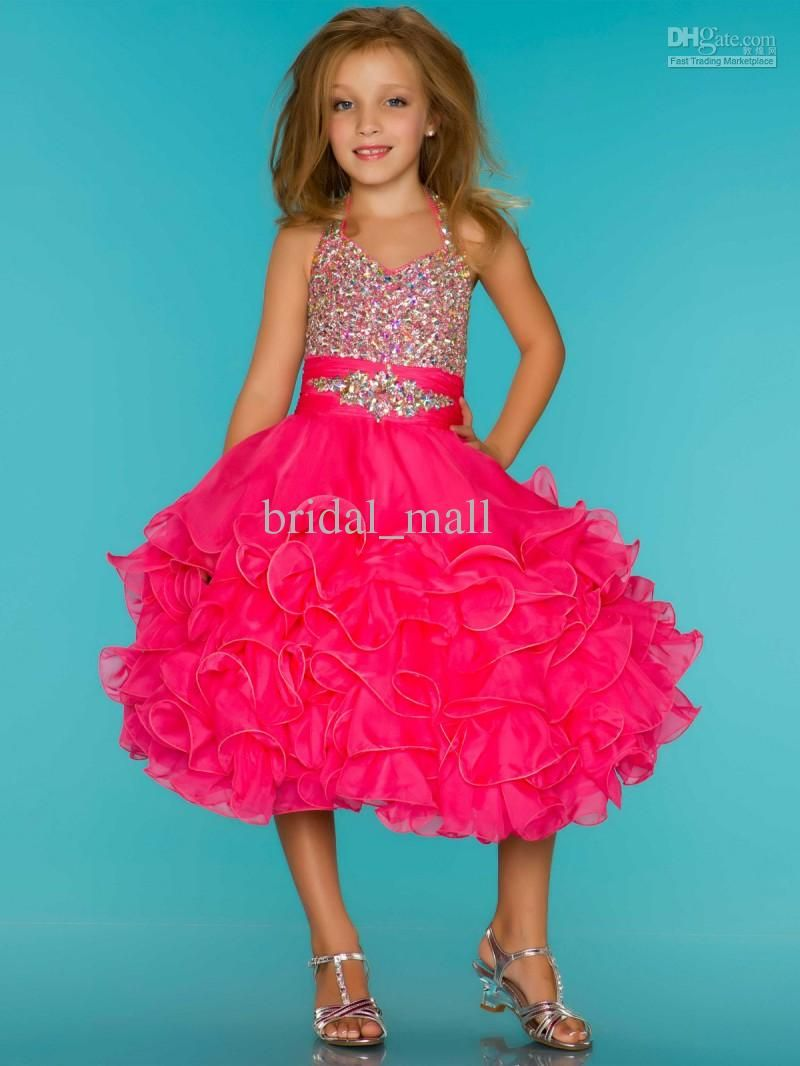 Wholesale cupcake halter top sugar pageant dress cupcake wholesale cupcake halter top sugar pageant dress cupcake rhinestone covered hot pink pageant dresses 76326s ombrellifo Gallery