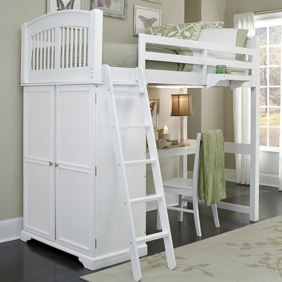 Locker Loft Bed   White   Loft Beds At Simply Bunk Beds