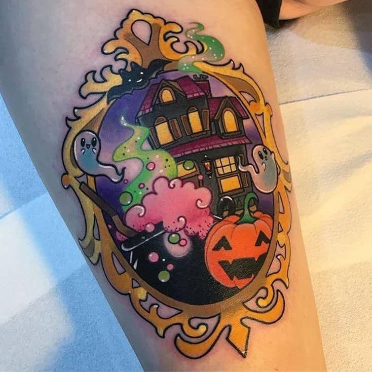 60 Cute & Creepy Halloween Tattoos #tattoosandbodyart