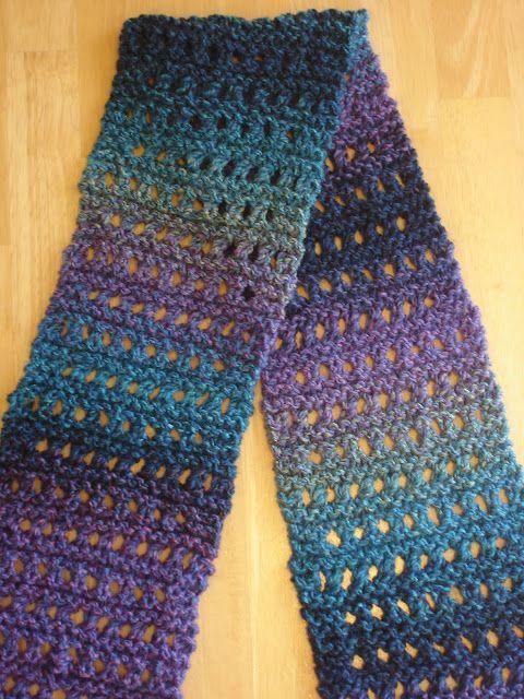 Free Knitting Pattern Tweedy Eyelet Scarf Knit Patterns