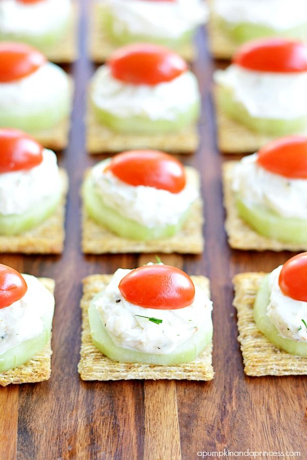 Cucumber Dill Spread Appetizers. Such a light, fresh treat for a summer party!
