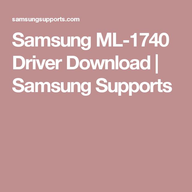 Samsung ml 1740 driver download | driver support center.
