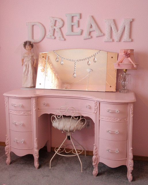 simply shabby chic dream letters pink vanity dresser pink vanity rh za pinterest com simply shabby chic vanity table white