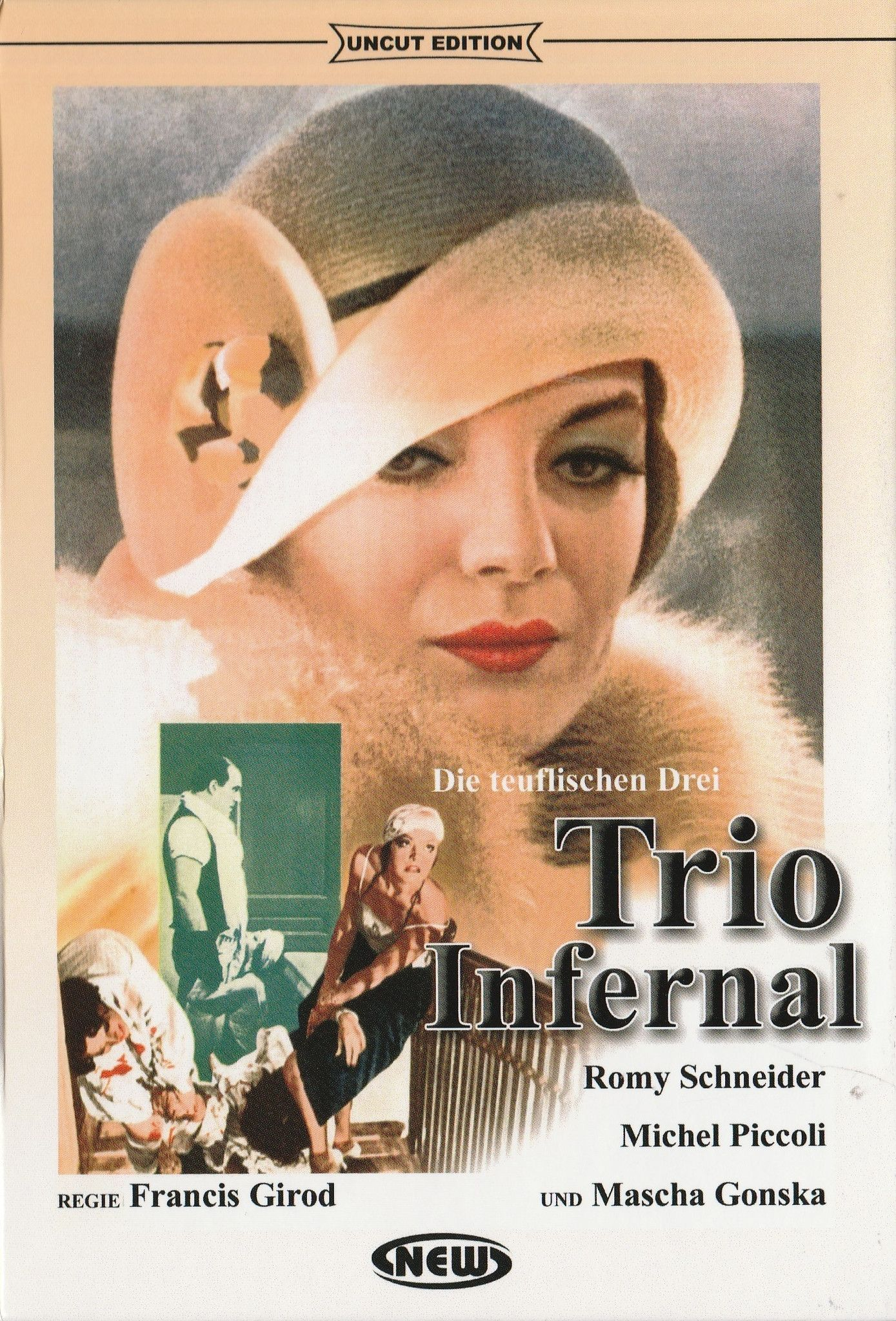 trio infernal 1974 romy schneider uncut dvd pinterest reconnaissant de sans maquillage. Black Bedroom Furniture Sets. Home Design Ideas