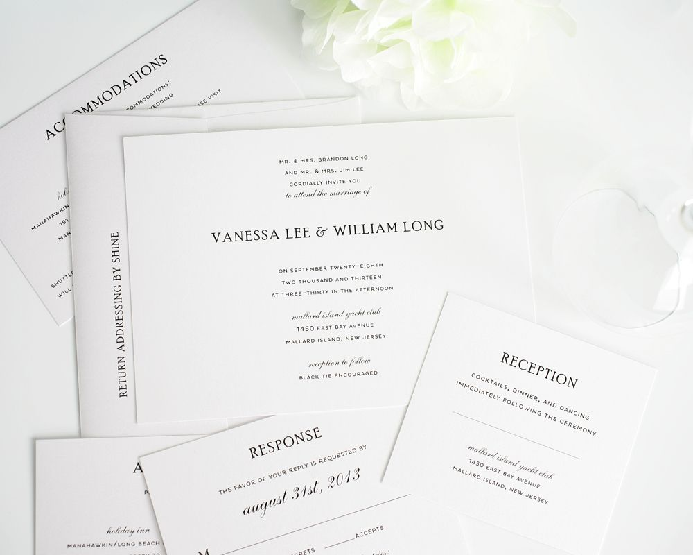 simple elegance wedding invitations - Simple Elegant Wedding Invitations