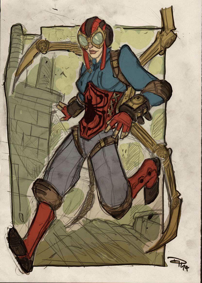 Steampunk Lady Spider (Marvel Comics) on Behance