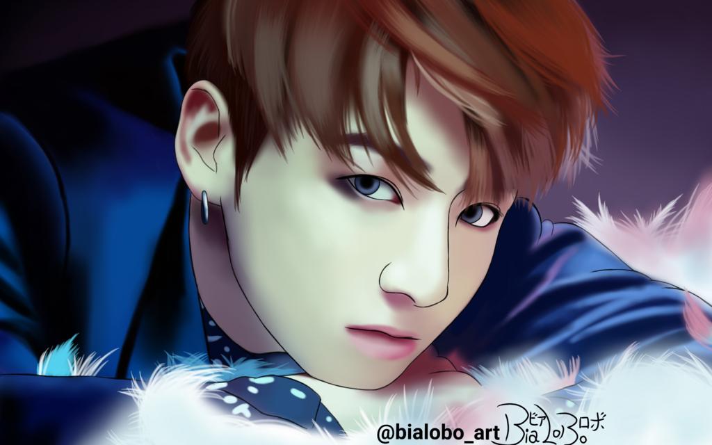 dessin jungkook JungKook BTS (Wings) Fanart byBiaLobo by