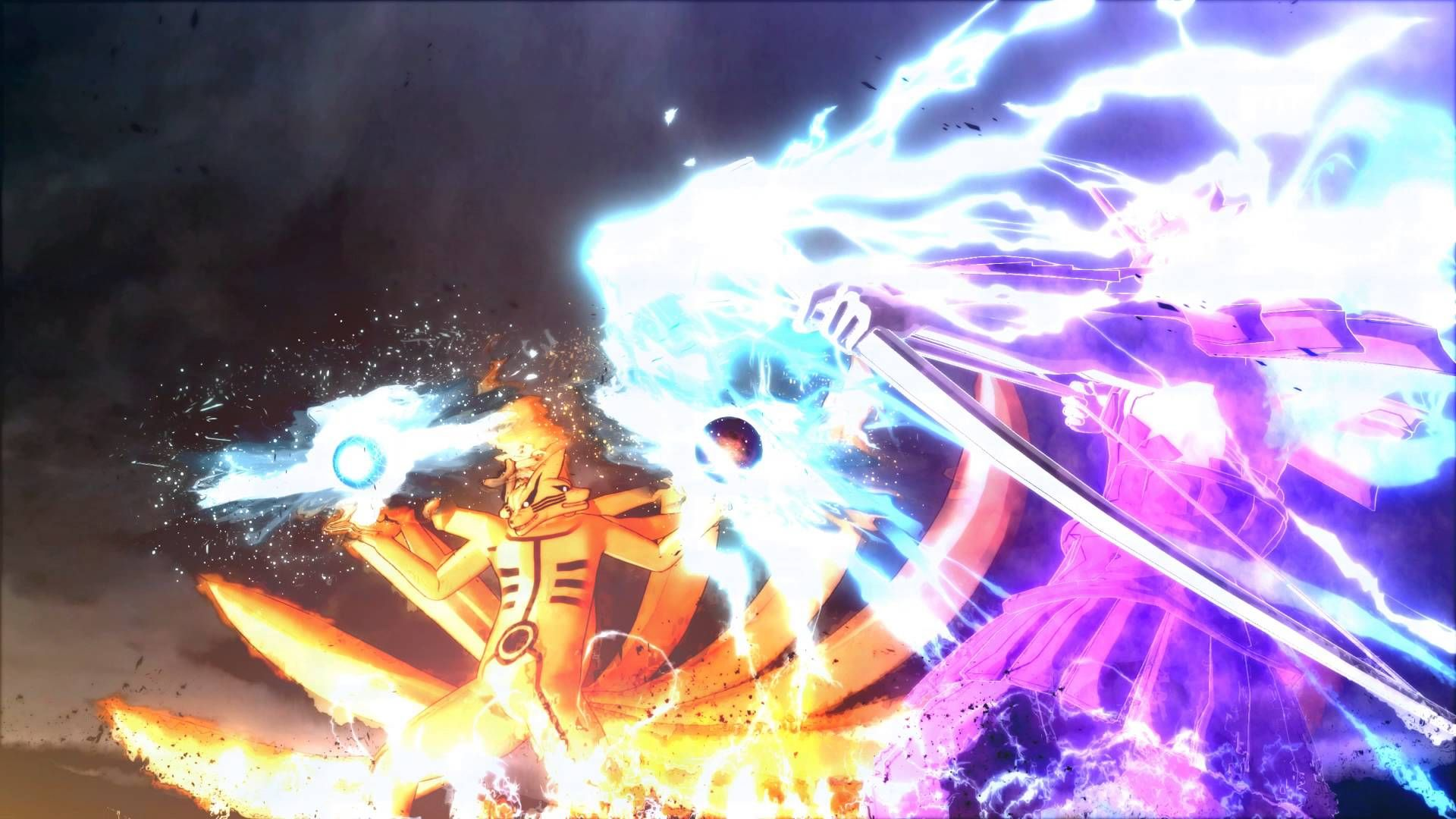 Naruto And Sasuke Six Paths Wallpaper Dengan Gambar