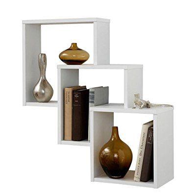 FMD Möbel 297-001 Scaffale da parete, 64 x 65,5 x 19 cm, Bianco