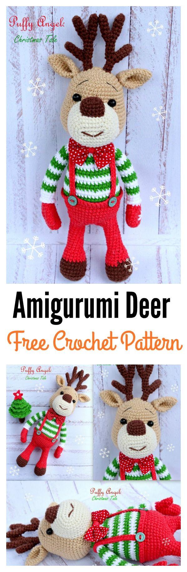 20 Crochet Reindeer Patterns | Häckeln, Häkeln und Weihnachten häkeln