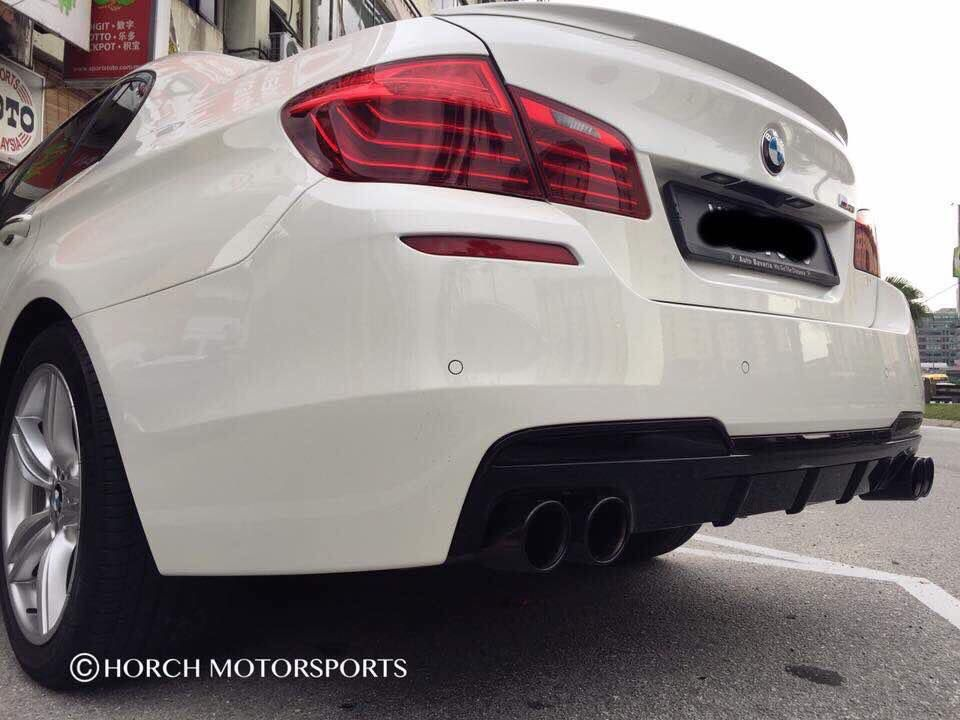 Bmw F10 528i With M Performance Spoiler Diffuser Quad Muffler