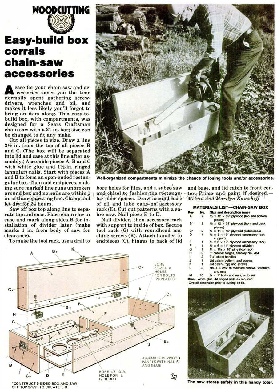 DIY Chainsaw Storage Box - Woodworking Plans and Projects | WoodArchivist.com  sc 1 st  Pinterest & DIY Chainsaw Storage Box - Woodworking Plans and Projects ... Aboutintivar.Com