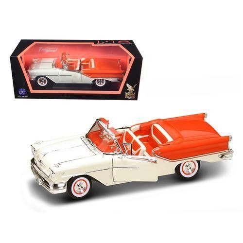 1957 Oldsmobile Super 88 Orange 1/18 Diecast Model Car by Road Signature