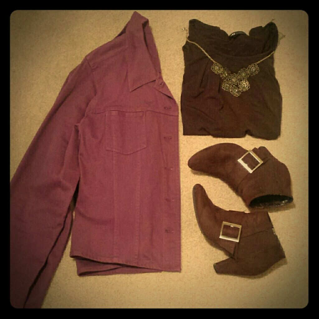Christopher & Banks // Fall Purple Jacket - L