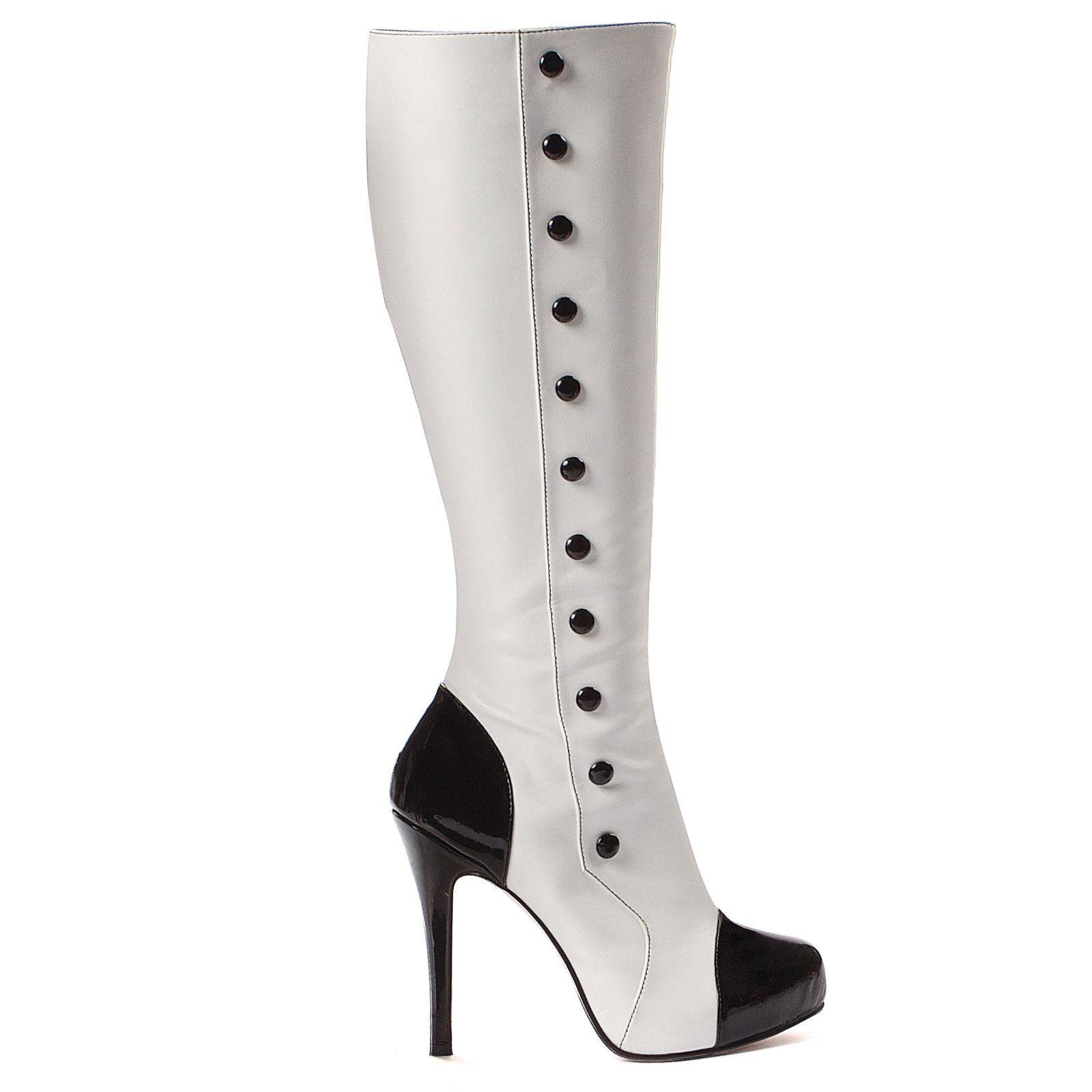 white fancy dress boots cheap online