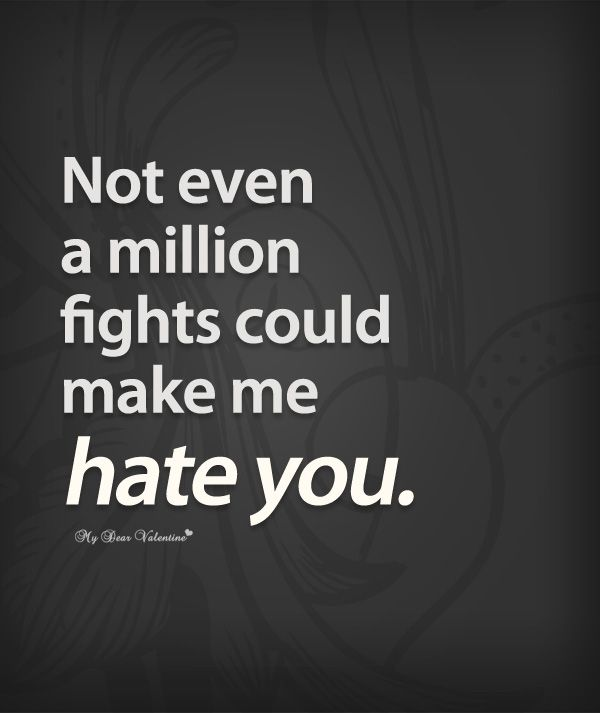 Not Even A Million Fights Could Make Me Hate You Love Quotes For Cool Fight For What You Love Quotes