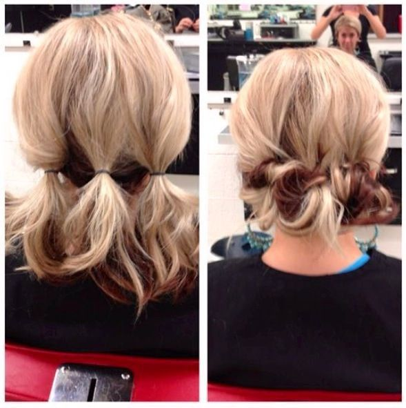 Easy Hairstyles For Medium Length Hair Simple Quick Easy Updo For Medium Length Hair  6Th Class  Pinterest