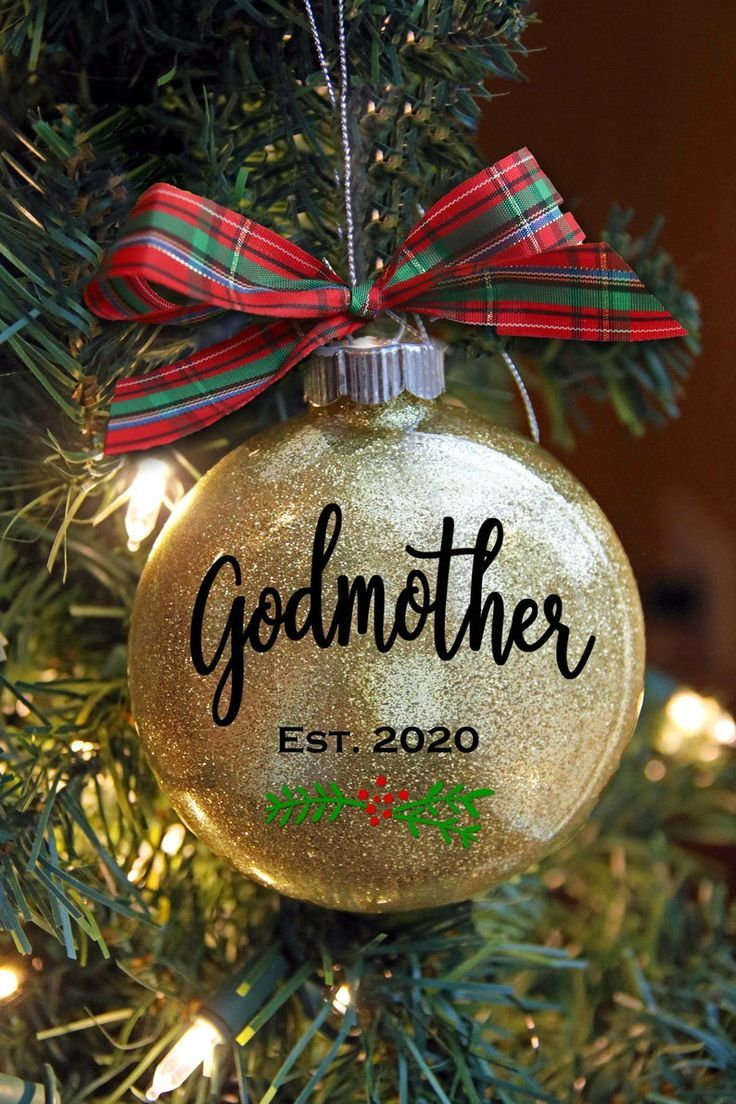 Godmother Christmas Ornament Christening or Baptism Gift
