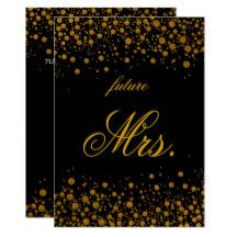 Gold glitter confetti Bridal Shower Invitation