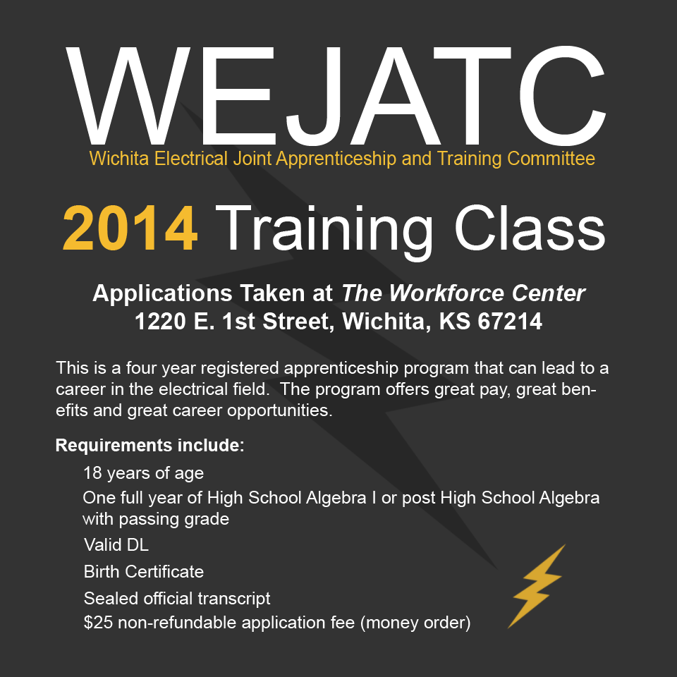 Registered Apprenticeship opportunity with Wichita