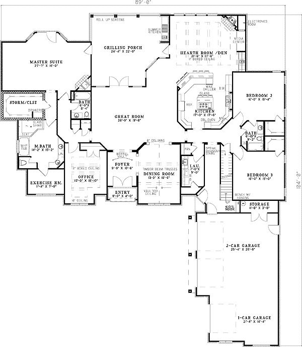 Plan 59798nd Master Suite With Corner Fireplace Storm Room Floor Plans House Plans