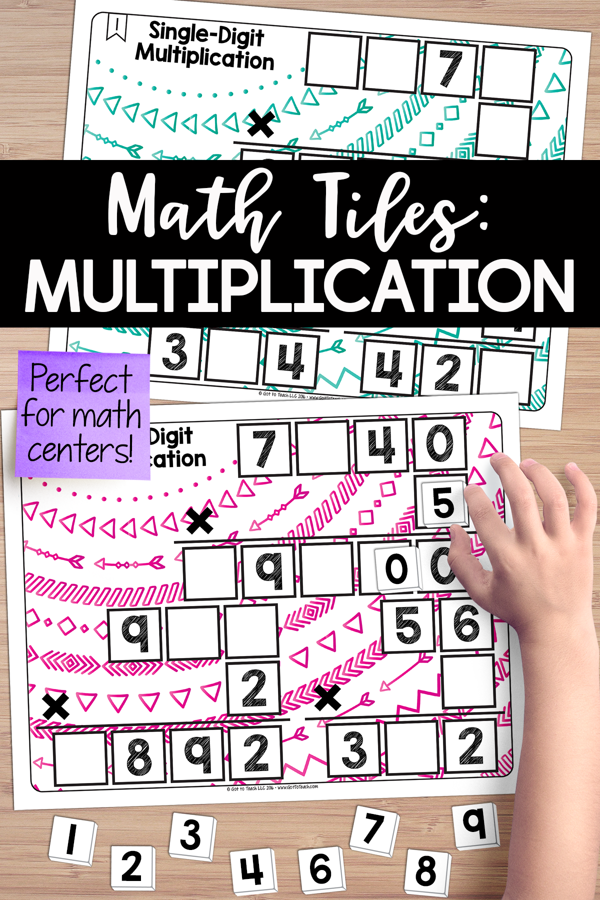 Math Tiles Single Digit Multiplication