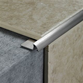 Tile Rite Rss387 12mm Round Stainless Steel Effect Tile Edging Tile Edge Tiles Tiles For Sale