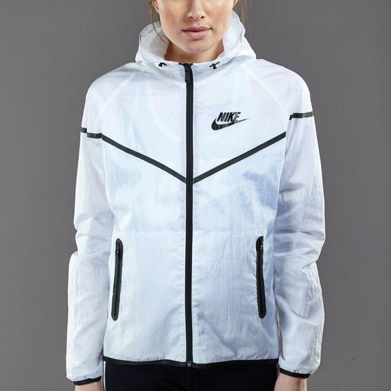 Womens Clothing - Nike Sportswear Womens Tech Windrunner-SP - White / Black