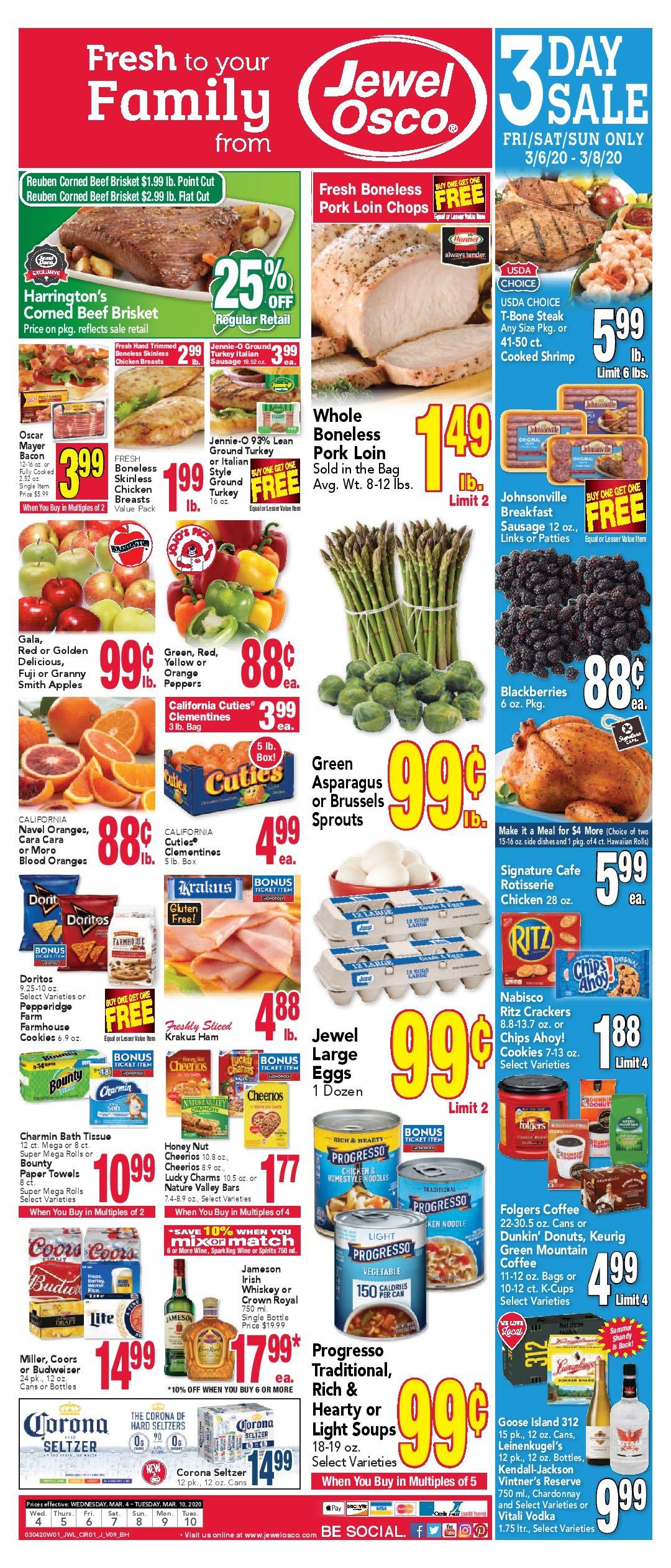 JewelOsco Weekly ad Flyer 03/11/20 03/17/20 Sale