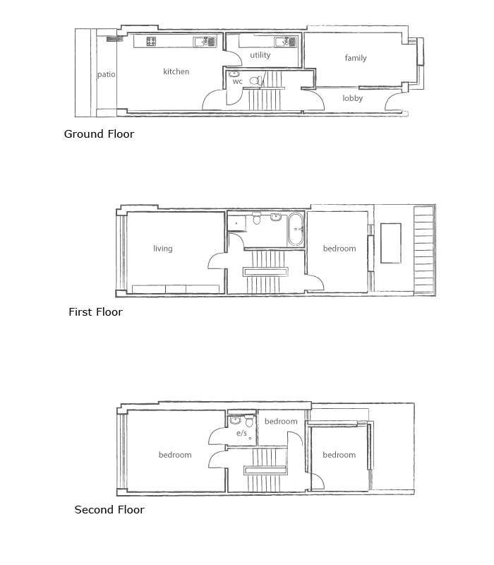 A Narrow Plot Self Build Homebuilding Renovating My House Plans Small House Plans Building A House