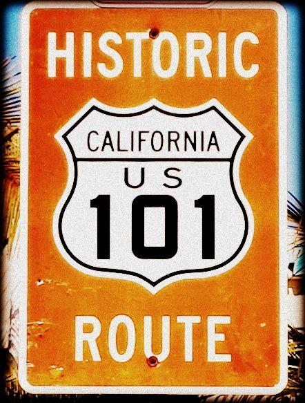Encinitas 101 Mainstreet Association: Historic California Route 101 Sign Marker In Encinitas